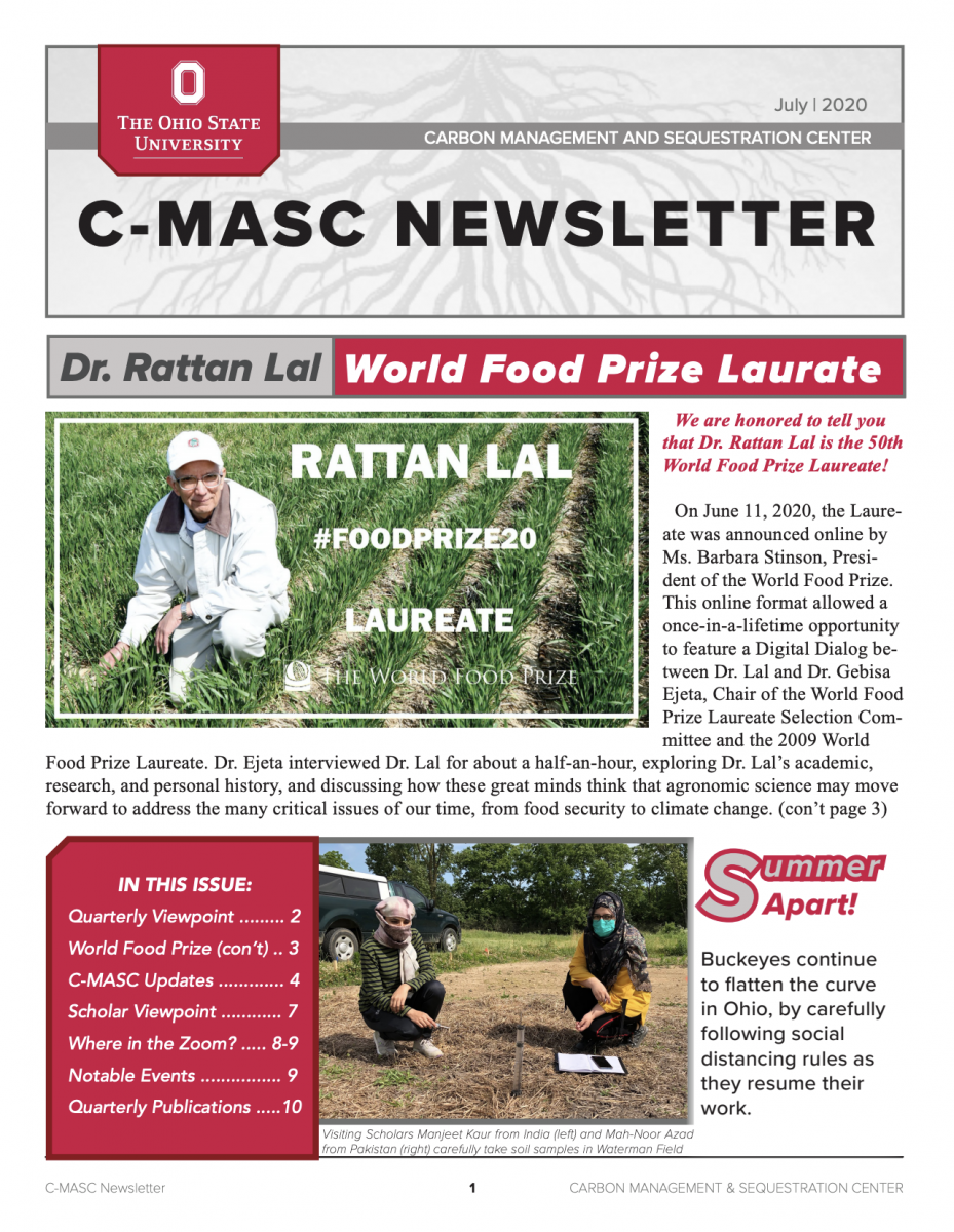 C-MASC Newsletter Cover