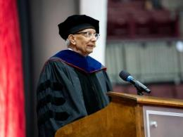 Distinguished University Professor Rattan Lal speaks at Ohio State's August 2019 Commencement